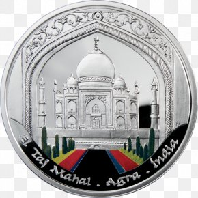Taj Mahal - Taj Mahal Silver Coin New7Wonders Of The World PNG