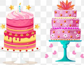 Vector Hand-painted Multi-layer Cake - Birthday Cake Wedding Cake Layer Cake PNG