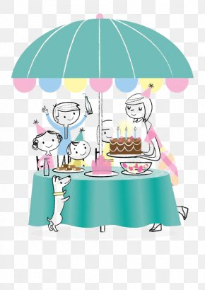 Birthday Party - Birthday Cake Party Greeting Card PNG