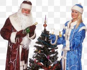 Christmas Tree - Christmas Tree Ded Moroz Santa Claus Snegurochka Christmas Ornament PNG