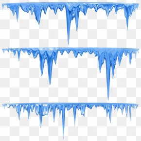 Hand Painted Blue Icicles - Icicle Royalty-free Stock Illustration Clip Art PNG