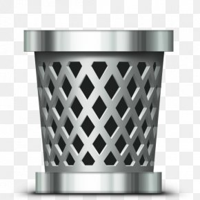 Trash Can - Macintosh Trash Recycling Waste Container Icon PNG