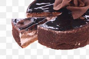 Cut The Chocolate Cake - Chocolate Cake Banana Cake Fruitcake Mold PNG