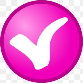 Pink Check Mark - Check Mark Election Voting OK PNG