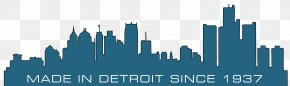 Cityscape Vector - Detroit Wall Decal Skyline Canvas Print PNG