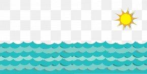 Cartoon Sea Border - Sea Cartoon Blue PNG