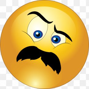 Annoyed Smiley - Smiley Emoticon Moustache Wink Clip Art PNG