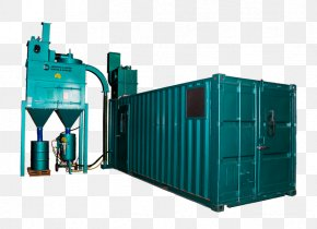 Container - Abrasive Blasting Machine Sand Surface Finishing Intermodal Container PNG