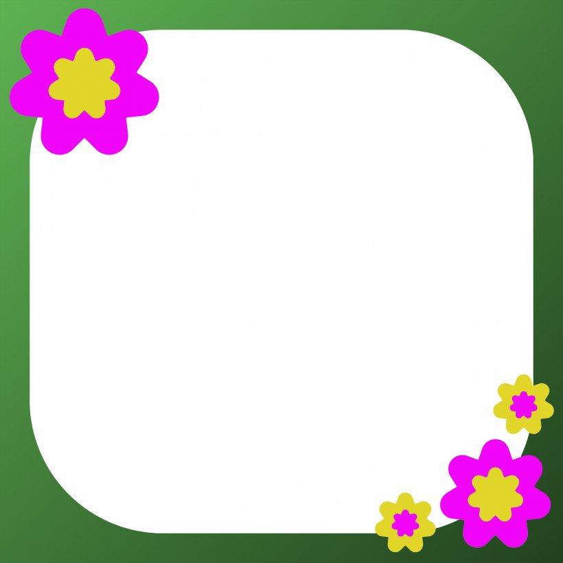 Flower Picture Frame Clip Art, PNG, 2400x2400px, Picture Frames, Border, Clip Art, Craft, Decorative Arts Download Free