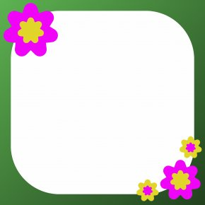 Flower Cliparts Frame - Flower Picture Frame Clip Art PNG