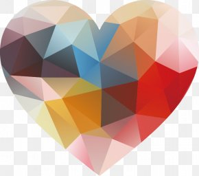 Romantic Valentine's Day Love - Geometry Geometric Shape Heart PNG