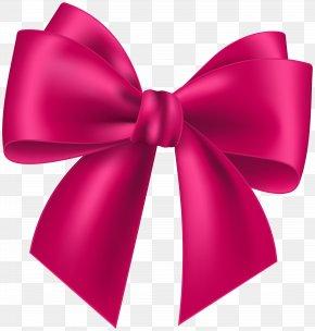 Pink Bow Transparent Clip Art Image - Pink Clip Art PNG