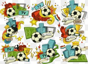 Vector Cartoon Soccer Logo - American Football Football Pitch PNG