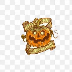 Halloween Pumpkin - T-shirt Halloween Pumpkin Holiday Illustration PNG
