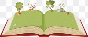 Vector Trees On The Books - Book Child Royalty-free Illustration PNG