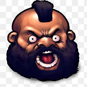 Street Fighter Zangief - Head Face Clip Art PNG