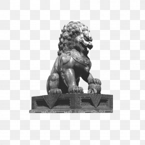 Stone Lion - Tang County Sculpture Statue Business PNG