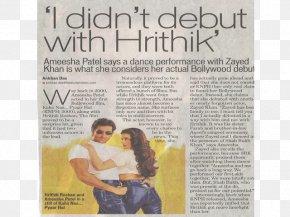 Hrithik Roshan - Bollywood Film 0 Newspaper Poster PNG