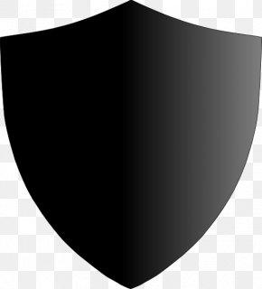 Black Shield - Black White Angle Font PNG