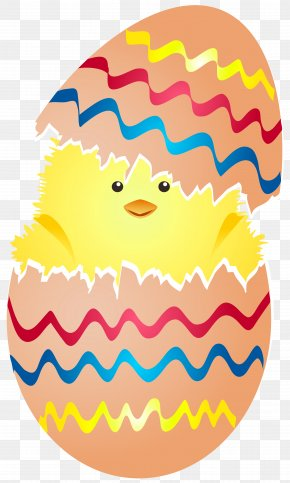 Cute Easter Chicken In Egg Clip Art Image - Chicken Easter Bunny Easter Egg PNG