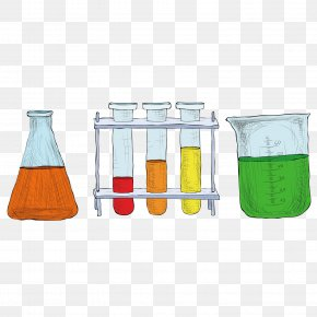 Hand-painted Container Chemistry Experiment - Chemistry Experiment Science PNG