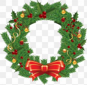 Party - Christmas Graphics Wreath Clip Art Christmas Day Holiday PNG