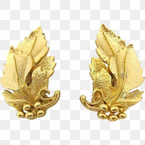 Gold Leaf - Earring Jewellery Gold Leaf Necklace PNG