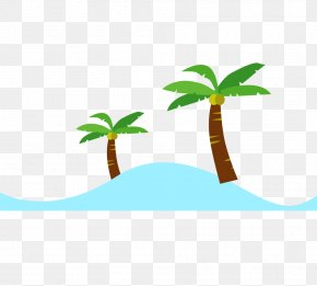 Coconut Tree - Leaf Text Green Clip Art PNG