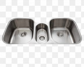 Sink - Sink Stainless Steel Bowl Kitchen Brushed Metal PNG