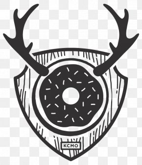 Doughnut Lounge Donuts Page Communications Deer Logo PNG