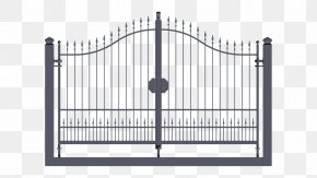 Gate - Gate Wrought Iron Fence Door PNG