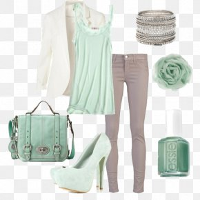 White Dress With A White Collar - Green Dress Grey Clothing Fashion PNG