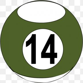 Number 14 Cliparts - Pool Billiard Ball Billiards Eight-ball Clip Art PNG