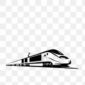 Hand-painted Black And White Motor Car - Kaihua County Quzhou Train One Belt One Road Initiative Rail Transport PNG