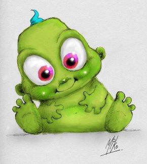Cute Alien - Infant Drawing Cartoon Clip Art PNG
