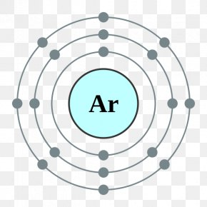 White Clouds Element - Electron Configuration Argon Atom Electron Shell PNG