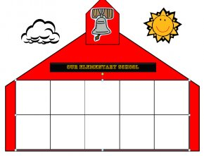 Free Art Schools - School House Escuela Building Clip Art PNG
