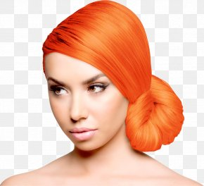 Orange Hair - Hair Coloring Human Hair Color Dye Blue Hair PNG