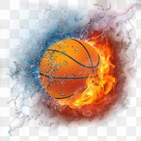 Flame Basketball - NBA Basketball Sport Wallpaper PNG