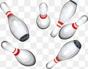 White Bowling Pins - Bowling Pin Bowling Ball Clip Art PNG