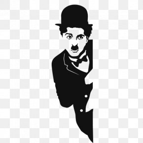 Charlie Chaplin - Charlie Chaplin The Tramp Silhouette PNG