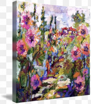 Painting - Floral Design Acrylic Paint Modern Art Watercolor Painting PNG