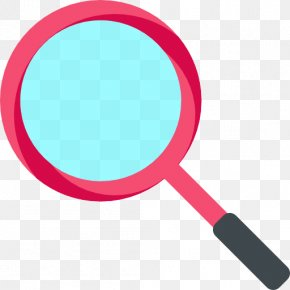 Red Magnifying Glass - Magnifying Glass Icon PNG
