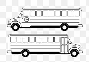 School Bus Graphic - School Bus Black And White Clip Art PNG