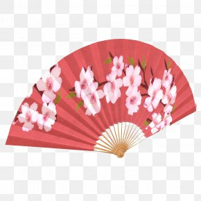 The Peach Blossom Fan In Japan - Japan Hand Fan 3D Computer Graphics Autodesk 3ds Max PNG