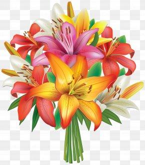 Flower Bunches Cliparts - Flower Bouquet Lilium Clip Art PNG