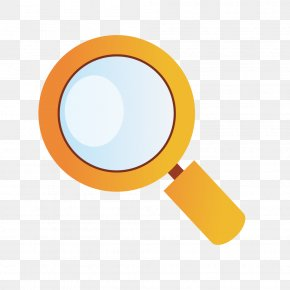 Yellow Gradient Vector Magnifying Glass - Magnifying Glass Yellow Euclidean Vector PNG