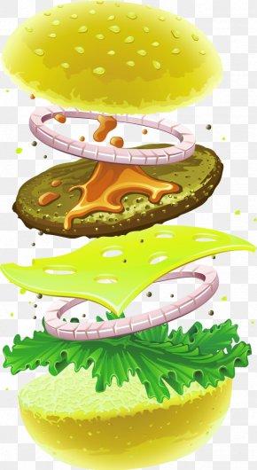 Layered Burger - Hamburger Cheeseburger Fast Food Chicken Sandwich Veggie Burger PNG