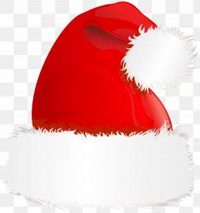 Santa Hat Transparent Clip Art Image - Red PNG