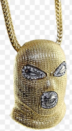 Gold Necklace - Chain Necklace Gold Pendant Mask PNG